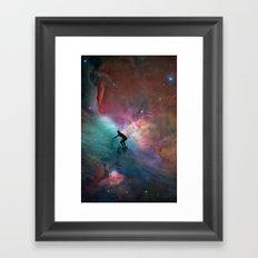 Nebulous Surfing Framed Art Print