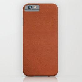 Indian red texture iPhone Case