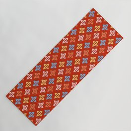 Las Flores - Red 01 (Patterns Please) Yoga Mat