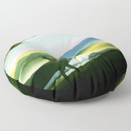 Sunny Surf Floor Pillow