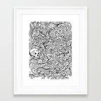 moriarty Framed Art Prints featuring MEMENTO MORIARTY by Allison Kolarik