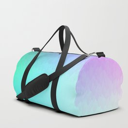Six Color Ombre Cyan, Purple, Green, Pink, Purple, Blue, Spectrum Flame Duffle Bag