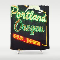 portland Shower Curtains featuring Portland! by Elle Hanley Photography