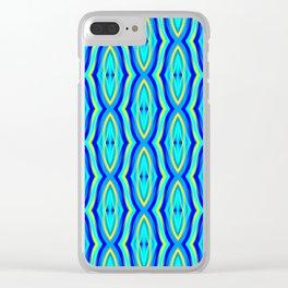 Aqua Arabesque Clear iPhone Case