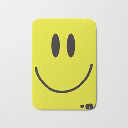 Acid house '91 vintage smiley face Bath Mat