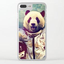 astro panda Clear iPhone Case
