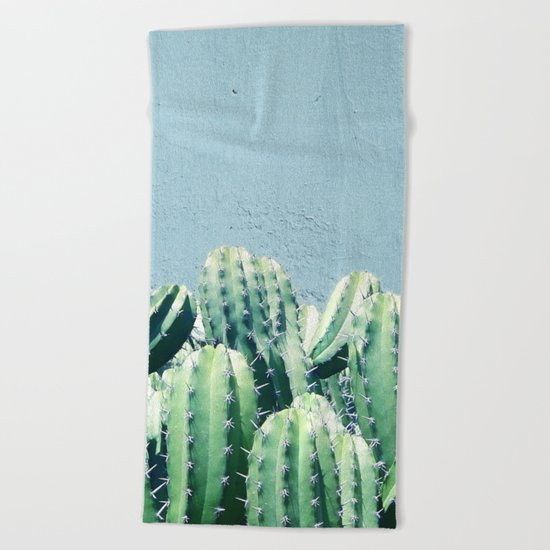 Cactus & Teal #society6 #decor #buyart Beach Towel
