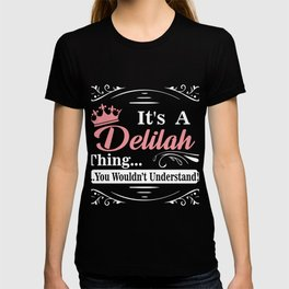 First Name T-Shirt Delilah Personalized Birthday Gift T-shirt