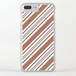 Sherwin Williams Cavern Clay Thick and Thin Angled Lines Triple Stripes Clear iPhone Case