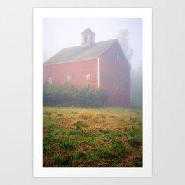Foggy Morning on the Farm Art Print