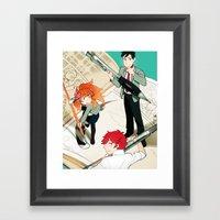 Gekkan Shoujo Nozaki-kun Framed Art Print