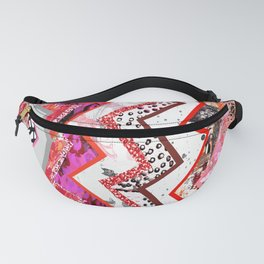 Love Heart Zigzags Fanny Pack