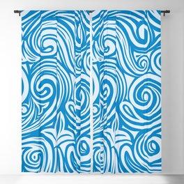 Blue Liquid Swirls Blackout Curtain
