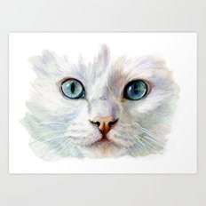 White Cat 844  Art Print