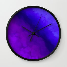 Deep Dark Abyss - Ultra Violet Ombre Abstract Wall Clock