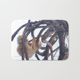 Two-toed sloth and orchids in Costa Rica Bath Mat