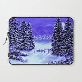 Moon Over The Mountain Laptop Sleeve