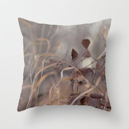 Soft Grass & Leaves Throw Pillow