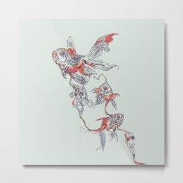 Floating in Deep Metal Print