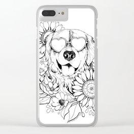 Color-Me Canine: Golden Retriever Clear iPhone Case