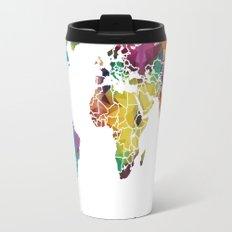 Geometric World Map Travel Mug