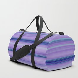 Modern Purple Pantone Aqua Stripe Pattern Duffle Bag