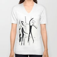 ballet V-neck T-shirts featuring Ballet by Anna Egorova