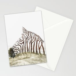 Zebra Tree Illusion Stationery Cards