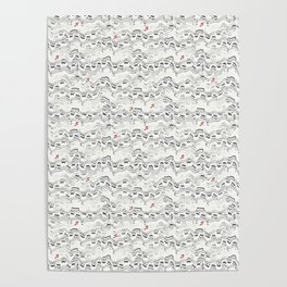 Wavy Musical Pattern Poster