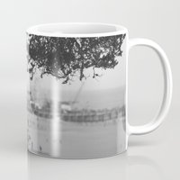 santa monica Mugs featuring santa monica by gabriellevictoria