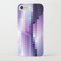 Lila hexagons Slim Case iPhone 7
