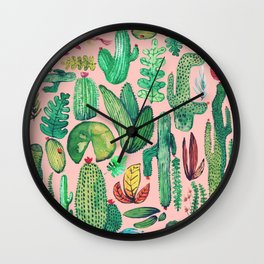 Nature Mix Pink!! Wall Clock
