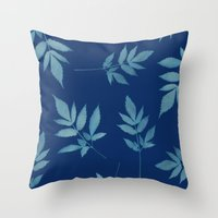 botanical Throw Pillows featuring Botanical by Jody Edwards Art