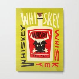 Whiskey Buffalo Metal Print