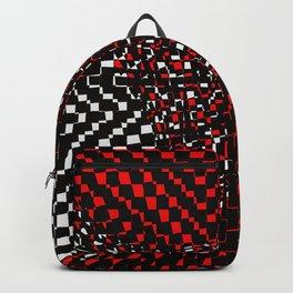 black white red 3 Backpack
