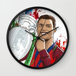 Portugal Campeoes Da Europa Wall Clock