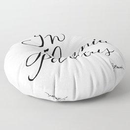 In Omnia Paratus Floor Pillow