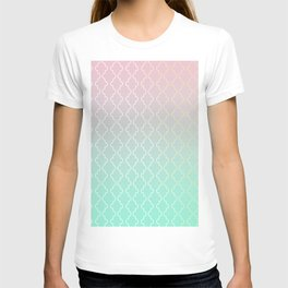Moroccan pattern with mint, pink and gold T-shirt