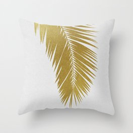 Palm Leaf Gold I Throw Pillow