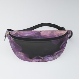 Amethyst Agate slice Fanny Pack