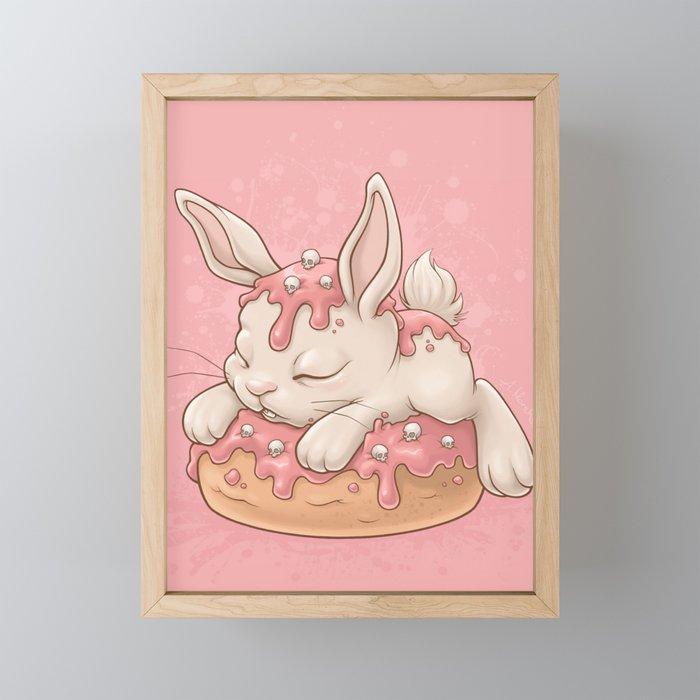 Donut Bunny Framed Mini Art Print