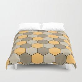 Honeycombs op art beige Duvet Cover
