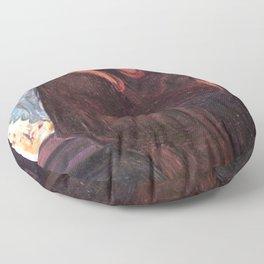 The Kiss Edvard Munch Painting Floor Pillow