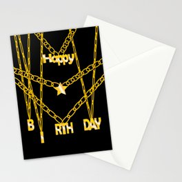 All gold Birthday 2  Stationery Cards