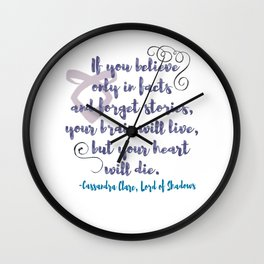 STORIES | CASSANDRA CLARE, LORD OF SHADOWS Wall Clock