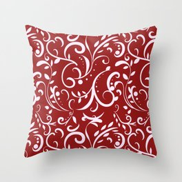 Spring Leaves Throw Pillow
