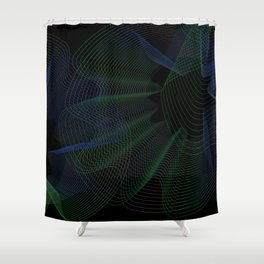 Neon Geometric style Shower Curtain