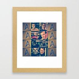 To Boldly Go Captain Framed Art Print