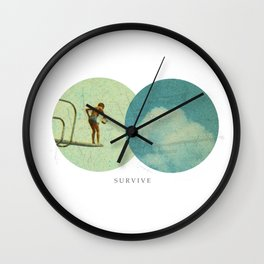 Survive | Collage Wall Clock