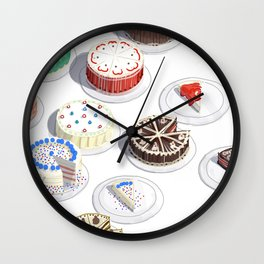 I Like Cakes Wall Clock